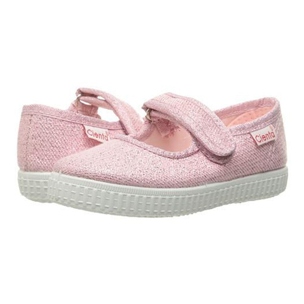 Cienta Mary Jane Shoe, Light Pink Sparkle
