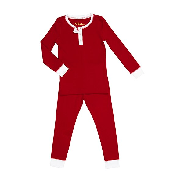 Petidoux Solid Red Pajamas