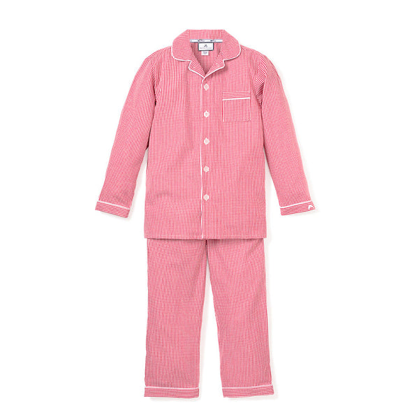Classic Pajama Set - Red Mini Gingham