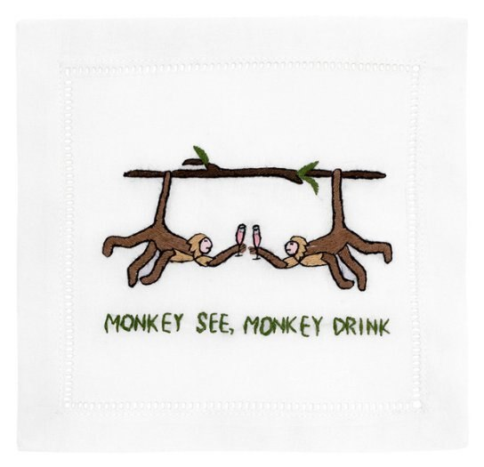 August Morgan Monkey See, Monkey Drink Cocktail Napkins