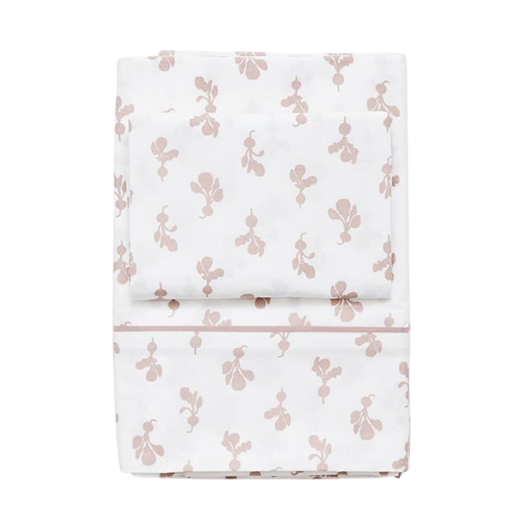 Twin Sheet Set - Mini Radish in Mauve