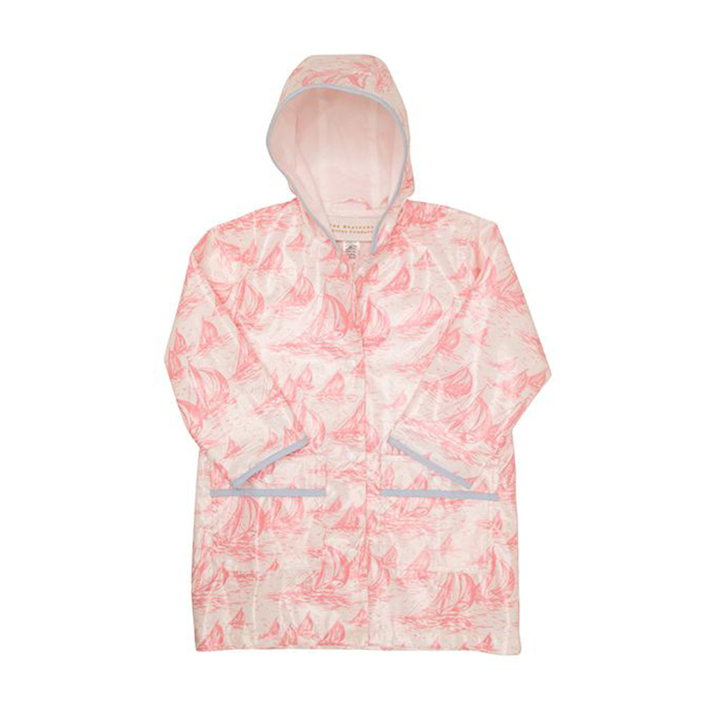 Liquid Sunshine Slicker St Simon's Sailboat Pink