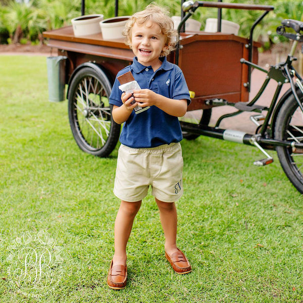 Prim & Proper Polo Nantucket Navy with Worth Avenue White Stork