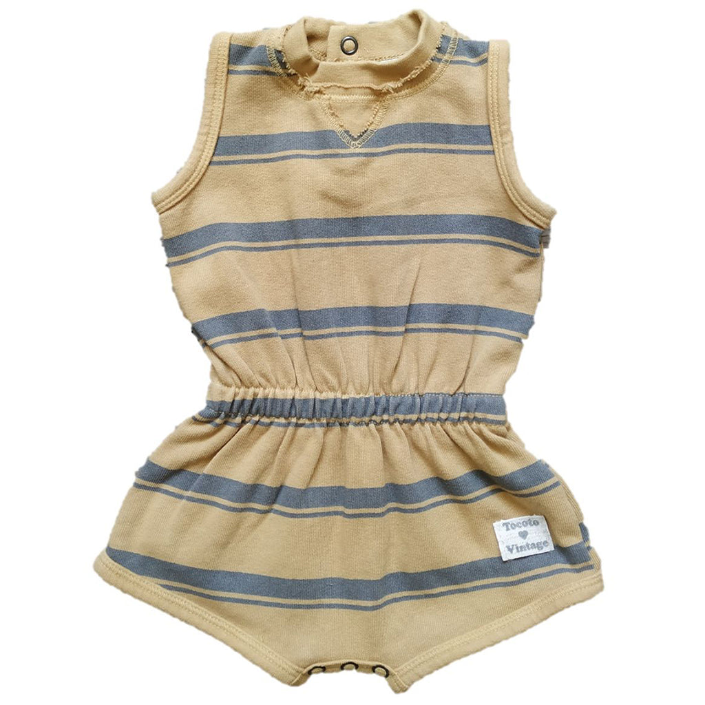 Stripe Fleece Romper