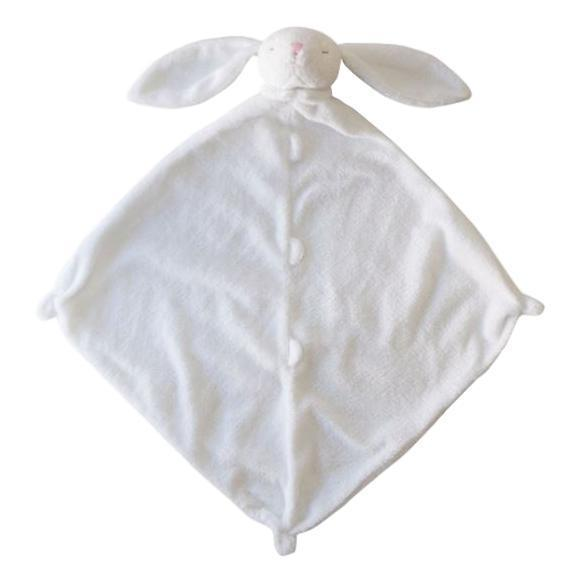 Angel Dear White Bunny Blankie with Monogram
