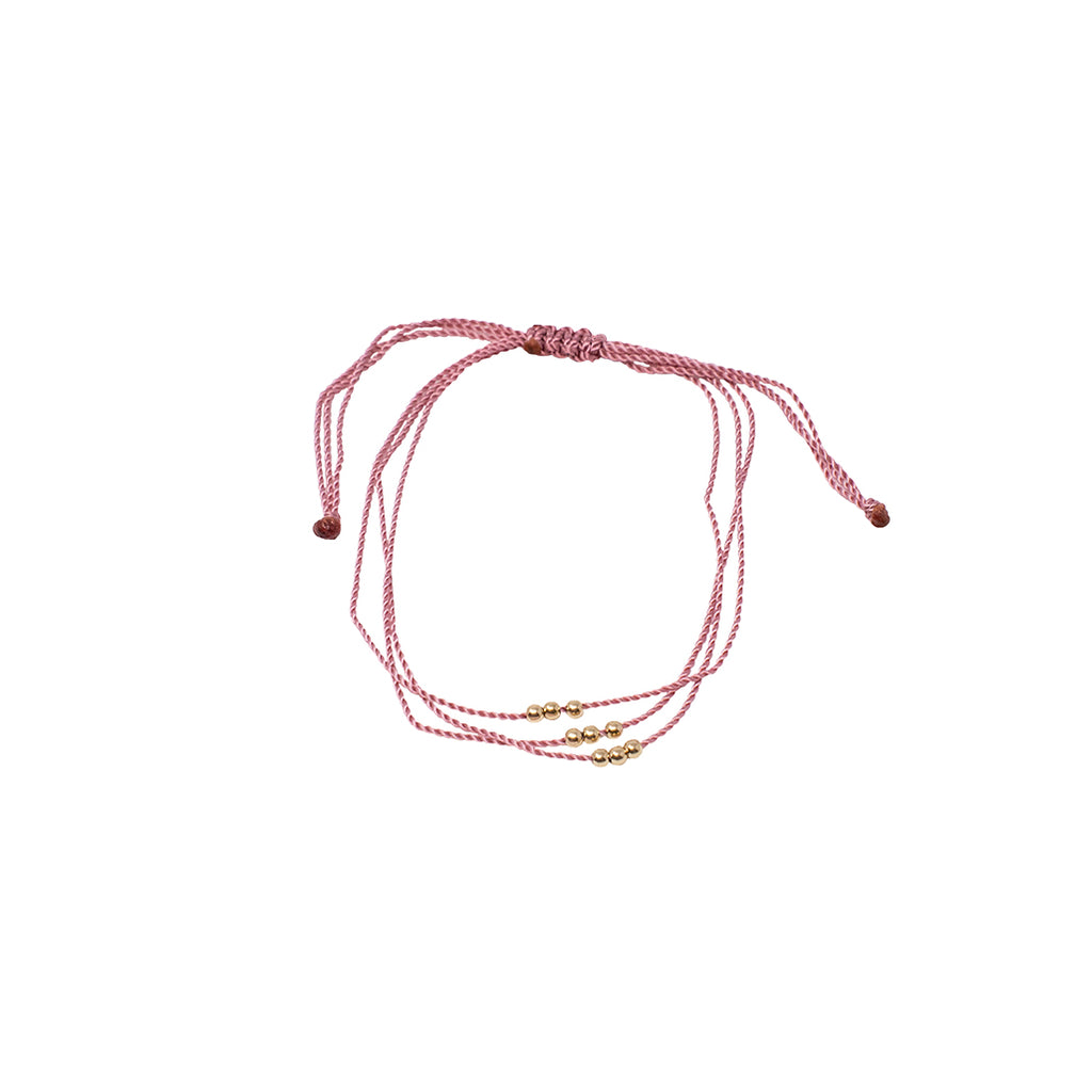 Wish Me Luck Bracelet, Hot Pink