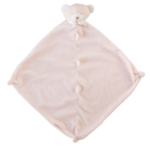 Angel Dear Pink Bear Blankie with Monogram