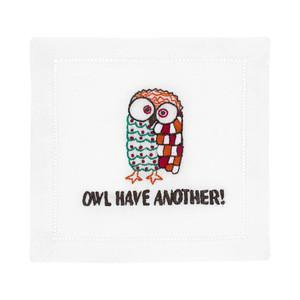 August Morgan Owl Have Another Cocktail Napkins