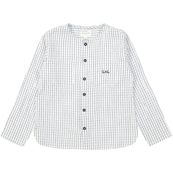 Louis Louise Baptiste Shirt, Off White & Blue Check