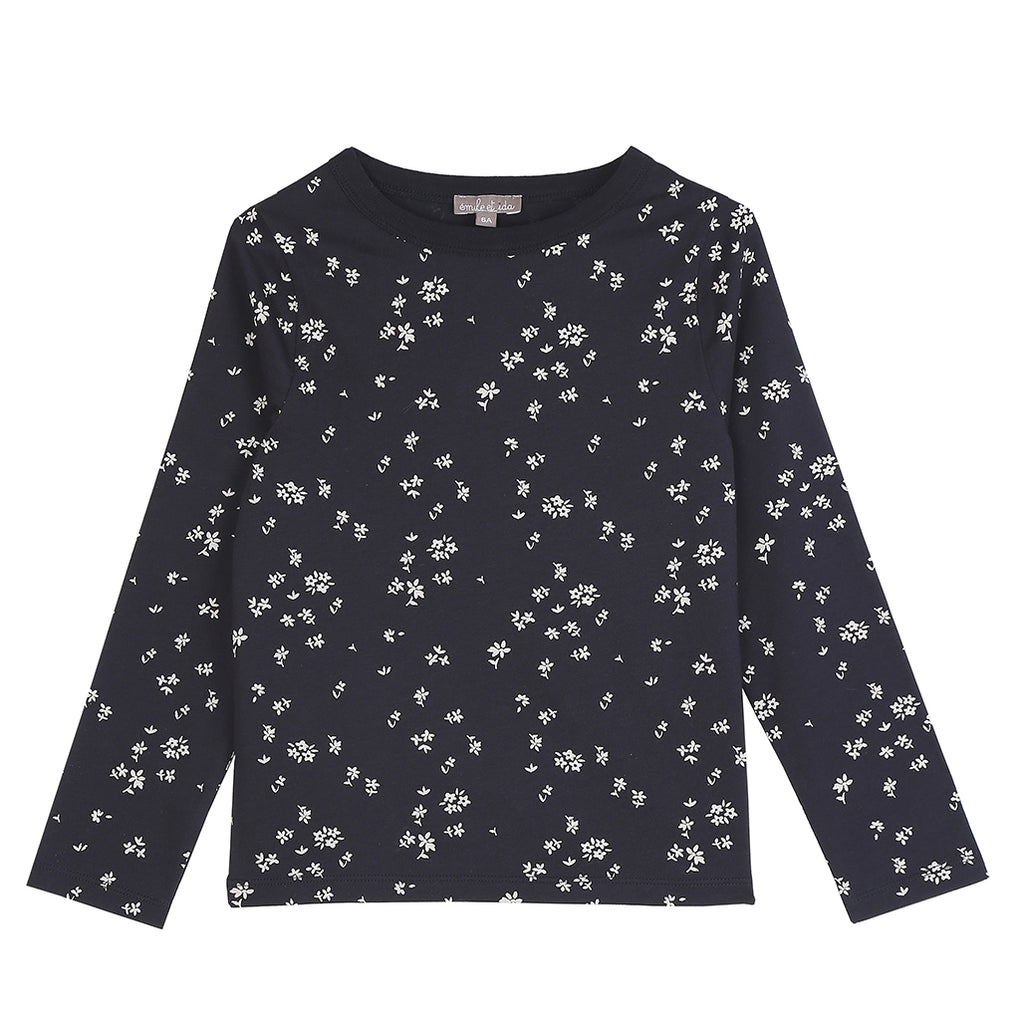 Long Sleeve Floral Tee Shirt Bitume Champetre