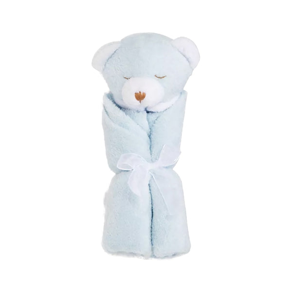 Angel Dear Blue Bear Blankie with Monogram