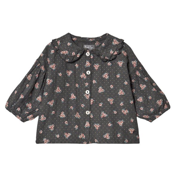Floral Blouse Brown