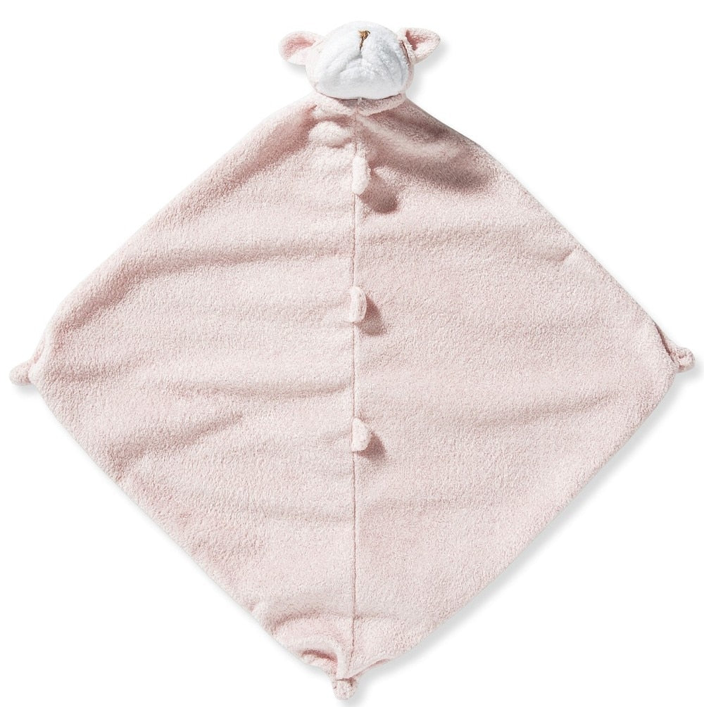 Angel Dear Pink Bulldog Blankie with Monogram