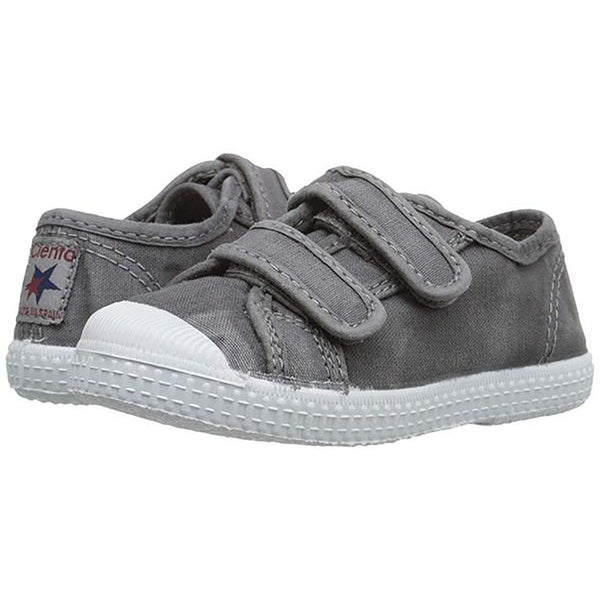 Cienta Double Velcro Shoe, Washed Grey