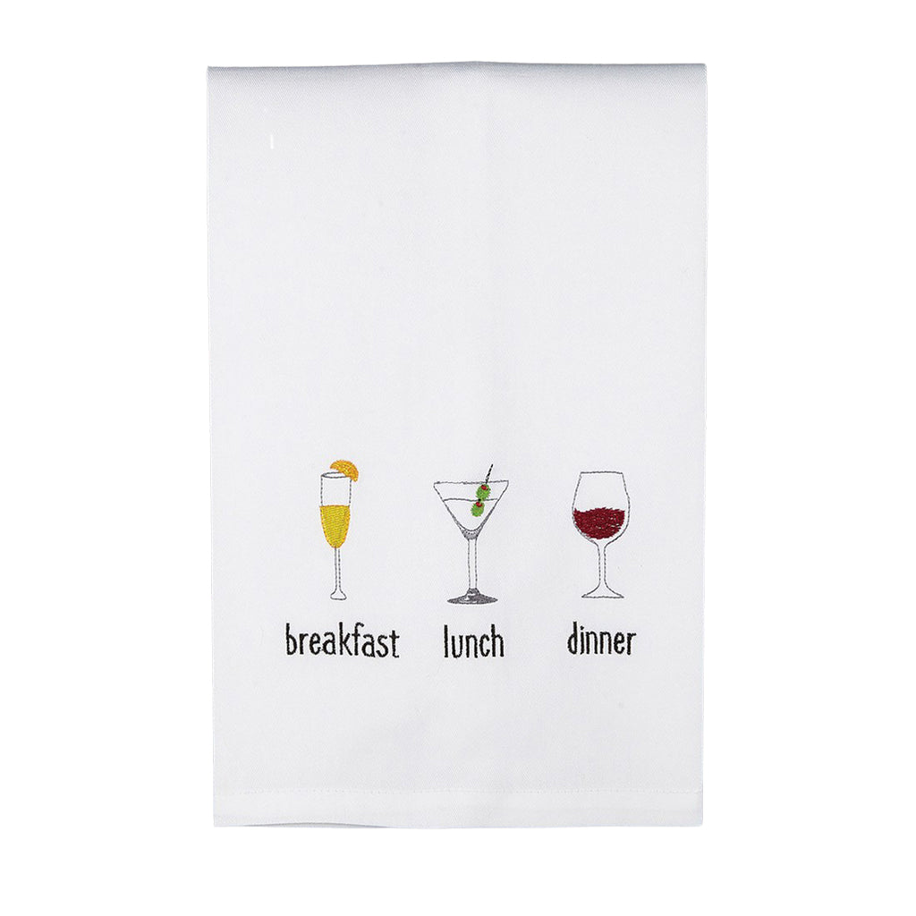 Breakfast Lunch Dinner Drinks Kitchen Towel