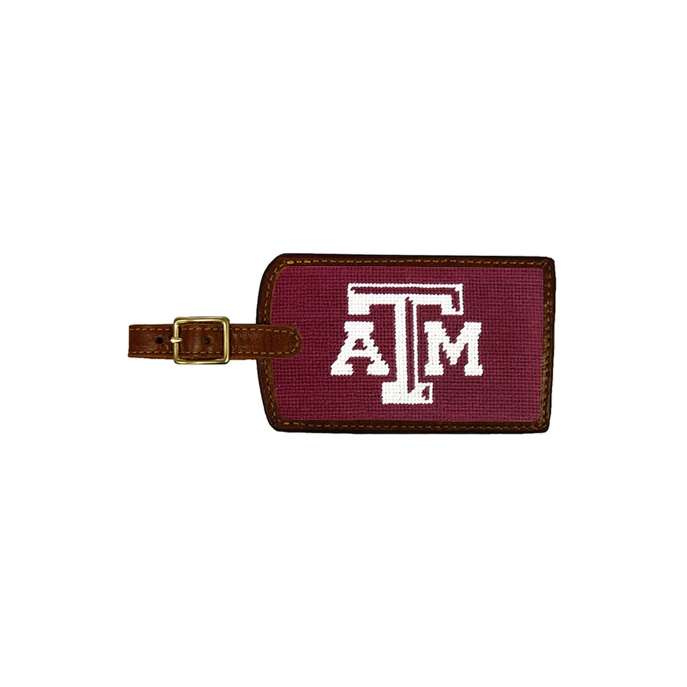 Texas A & M Needlepoint Luggage Tag