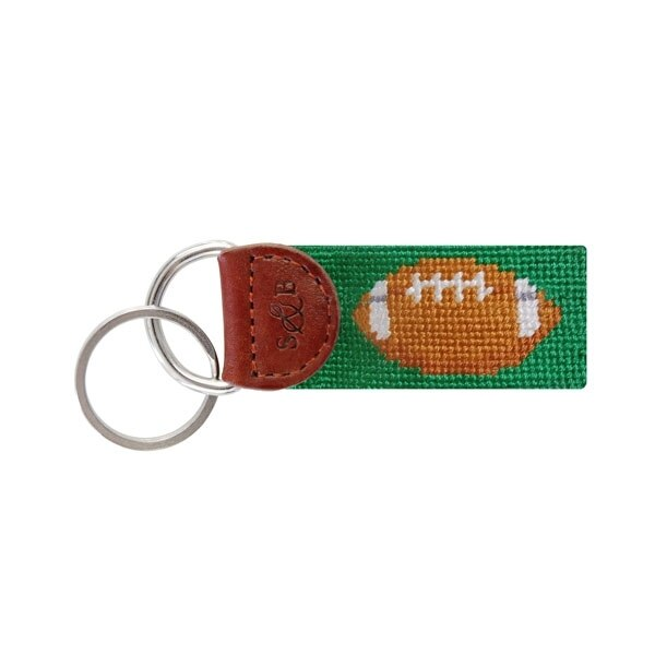 Smathers & Branson Football Needlepoint Key Fob