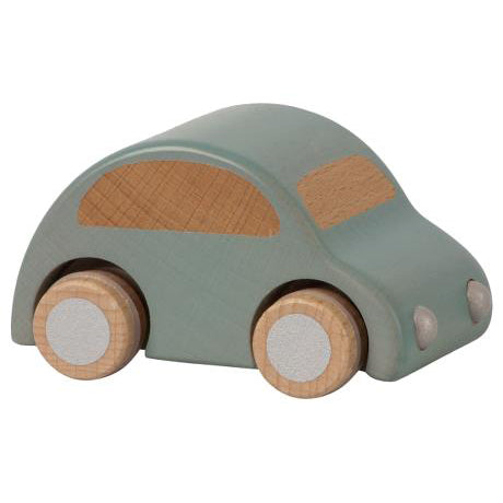 Wooden Car, Light Blue