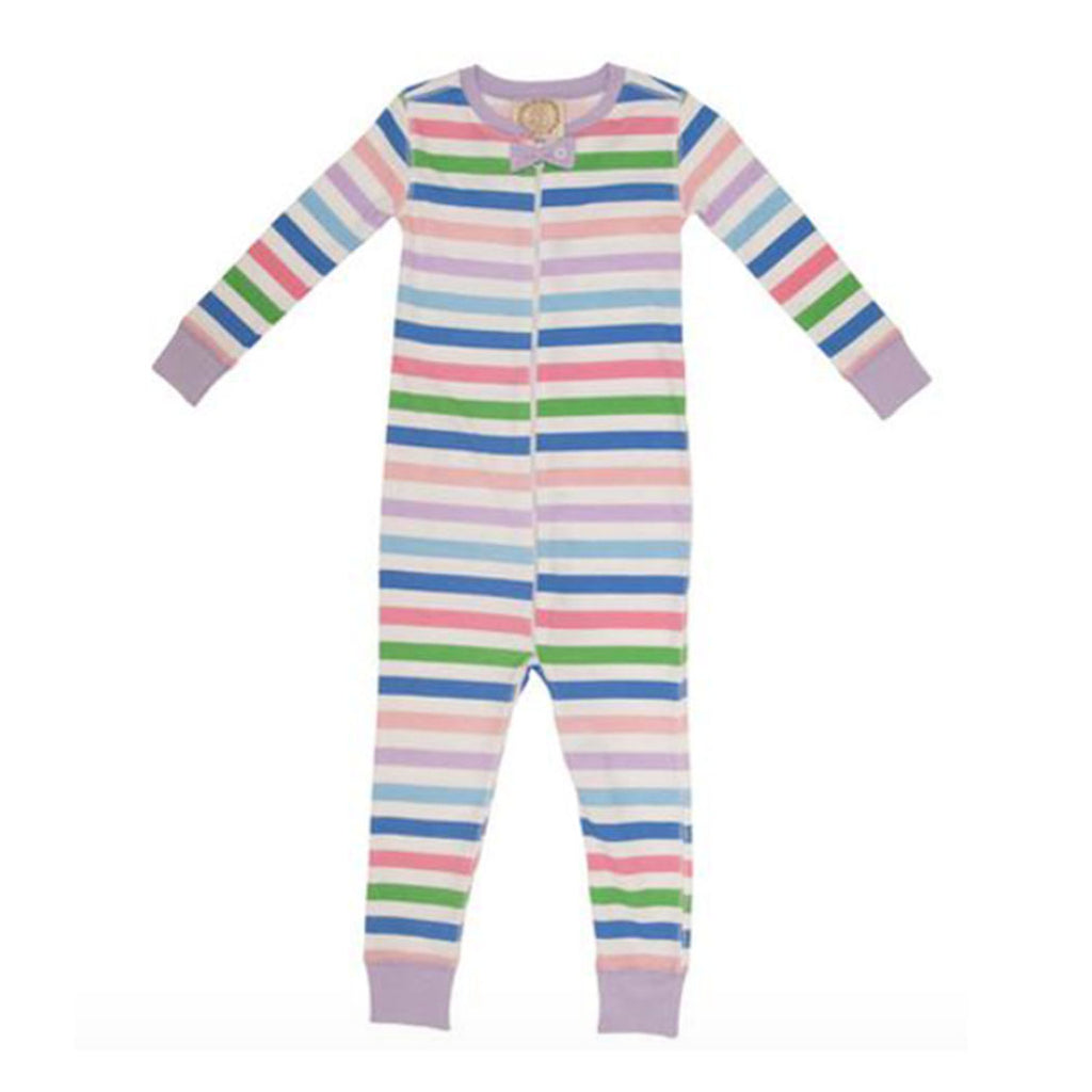 Noelle's Night Night Footed/ Non Footed Broad Street Stripe