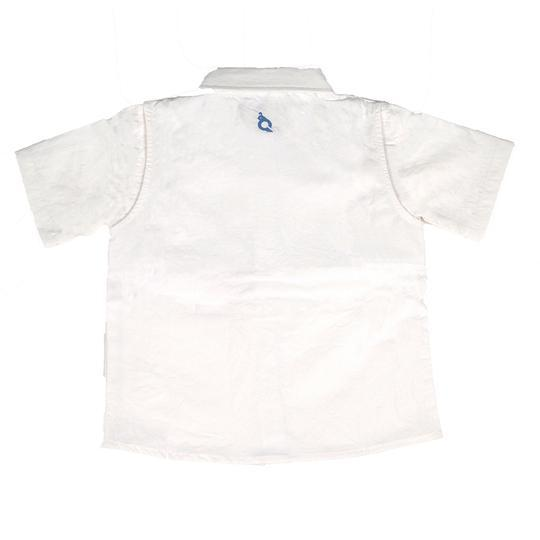 Blue Quail Guayabera White & Light Blue Shirt