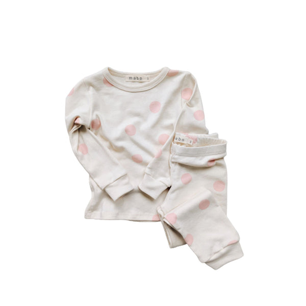 Organic Cotton Spotted Pajamas Pink Dot