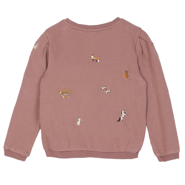 Embroidered Animal Sweatshirt