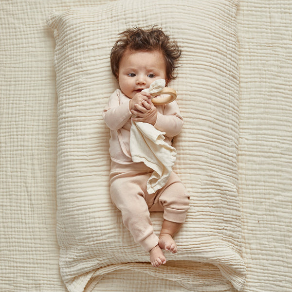 Organic Teether Blankie, Ivory