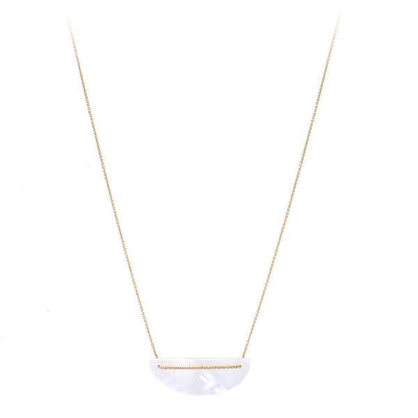 Moon Necklace, Mother of Pearl
