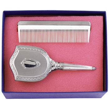 Salisbury Pewter Girl's Embossed Brush and Comb Gift Set