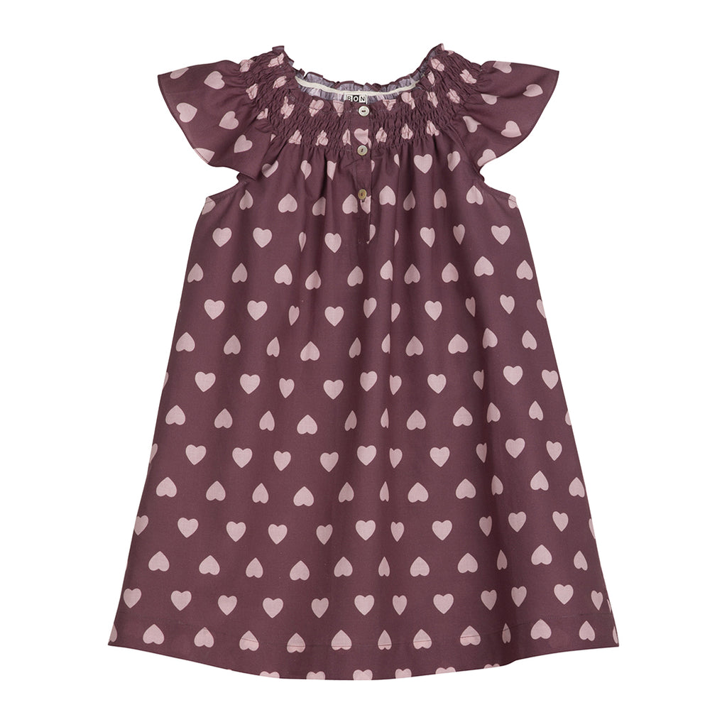 Heart Dress Plum