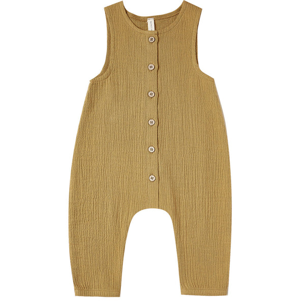 Woven Snap Jumpsuit Ocre