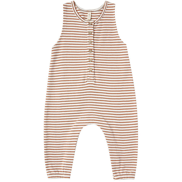 Sleeveless Jumpsuit Rust Stripe