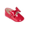 Baby Ballerina with Bow Red Patent