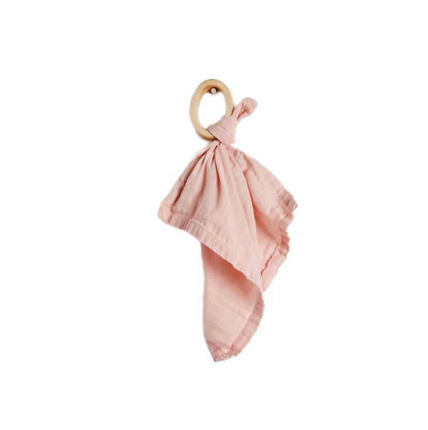 Organic Teether Blankie, Rose