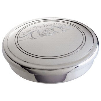 Salisbury Pewter First Curl Box with Personalization