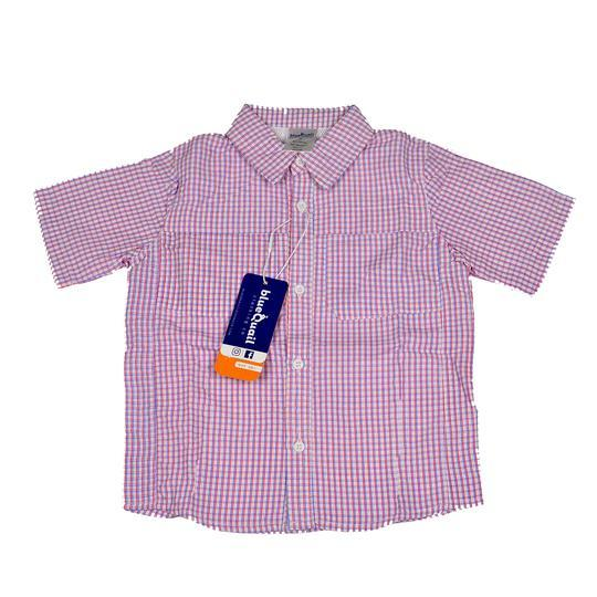 Blue Quail Everyday Short Sleeve Check Shirt, Red/Navy
