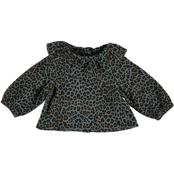 Animal Print Blouse Grey