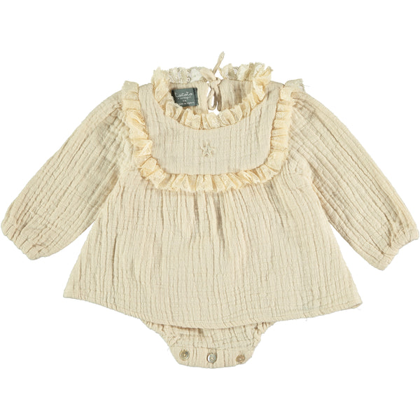 Off White Lace Baby Dress