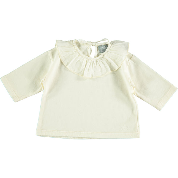 Long Sleeve T-Shirt with Ruffles