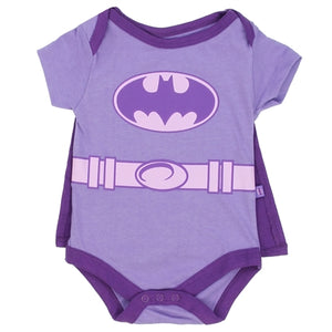 BATGIRL Girls 0-9M Newborn Creeper with Cape