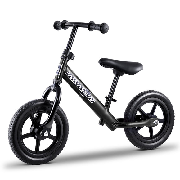 Kids Balance Bike Ride On Toys Puch Bicycle Wheels Toddler Baby 12 Bikes Black