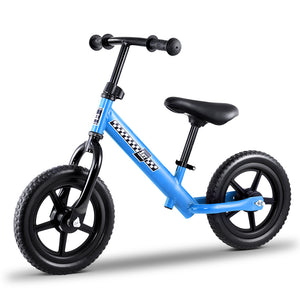 "Kids Balance Bike Ride On Toys Push Bicycle Wheels Toddler Baby 12"" Bikes Blue"