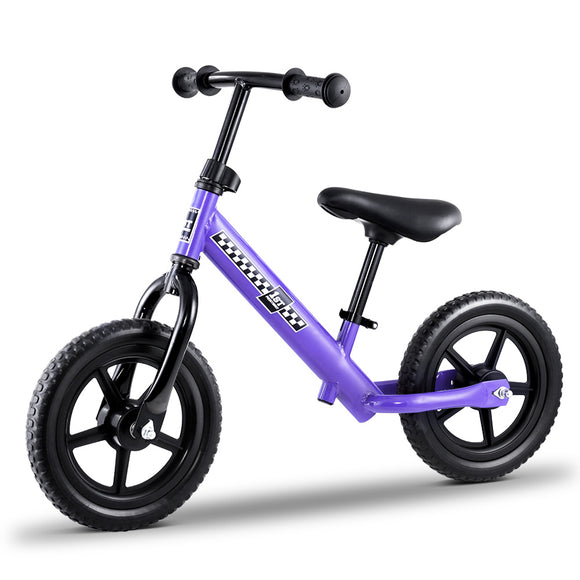 Kids Balance Bike Ride On Toys Puch Bicycle Wheels Toddler Baby 12 Bikes Purple