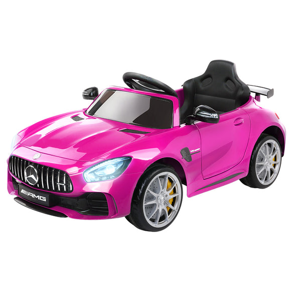Kids Ride On Car MercedesBenz AMG GT R Electric 12V Pink