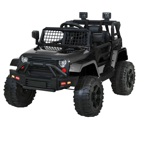 Rigo Kids Ride On Car Electric 12V Car Toys Jeep Battery Remote Control Black