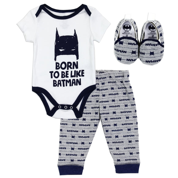 BATMAN Boys Newborn 3PC Pant Set