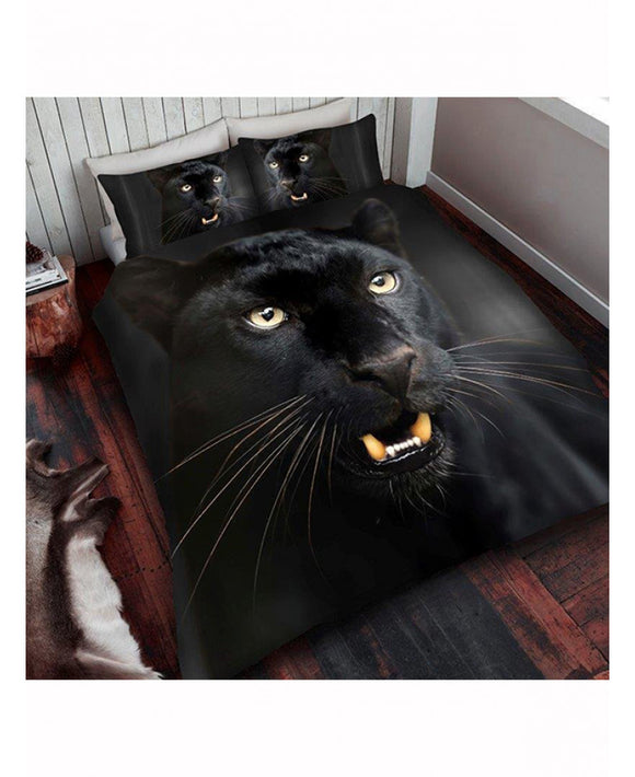 ***LIMITED STOCK***  Black Panther King Size Duvet Cover And Pillowcase Set