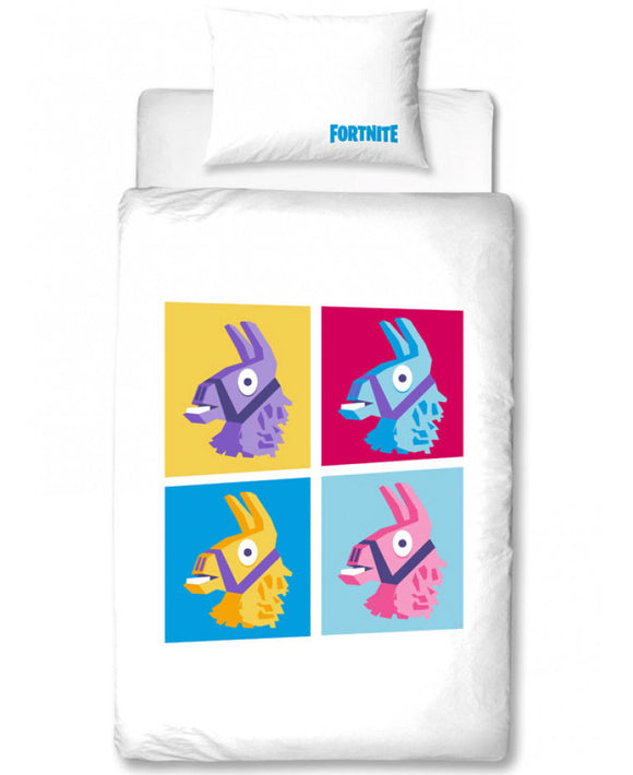 Official Fortnite Llamas Battle Royale Single Duvet Cover Set