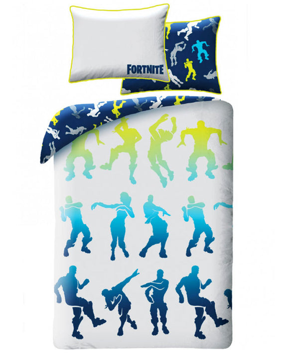 Bc Official Fortnite Battle Royale Shuffle Single Cotton Duvet Cover Set