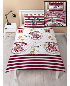 Harry Potter Muggles Single Duvet Cover and Pillowcase Set - Rotary Design